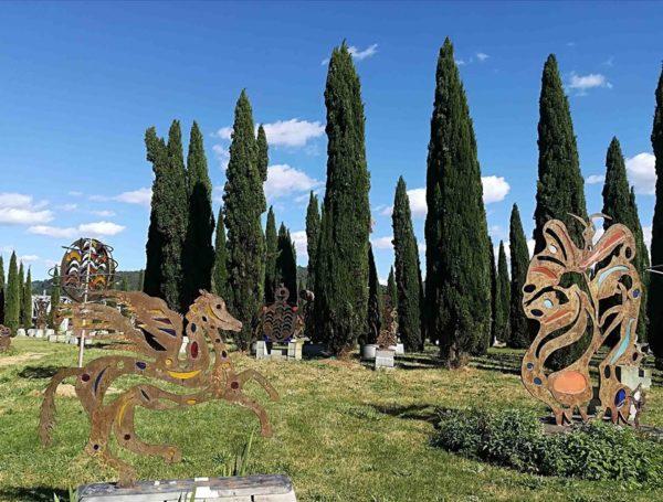Pegaso piccolo Parco d'Arte Pazzagli Firenze