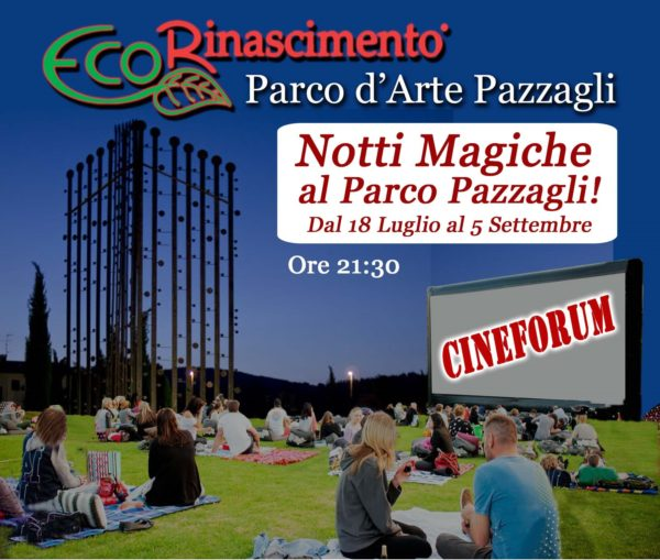 Cineforum parco d'Arte Pazzagli 2020